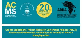 African Research Universities Alliance (ARUA) Post-doctoral Fellowship 2019