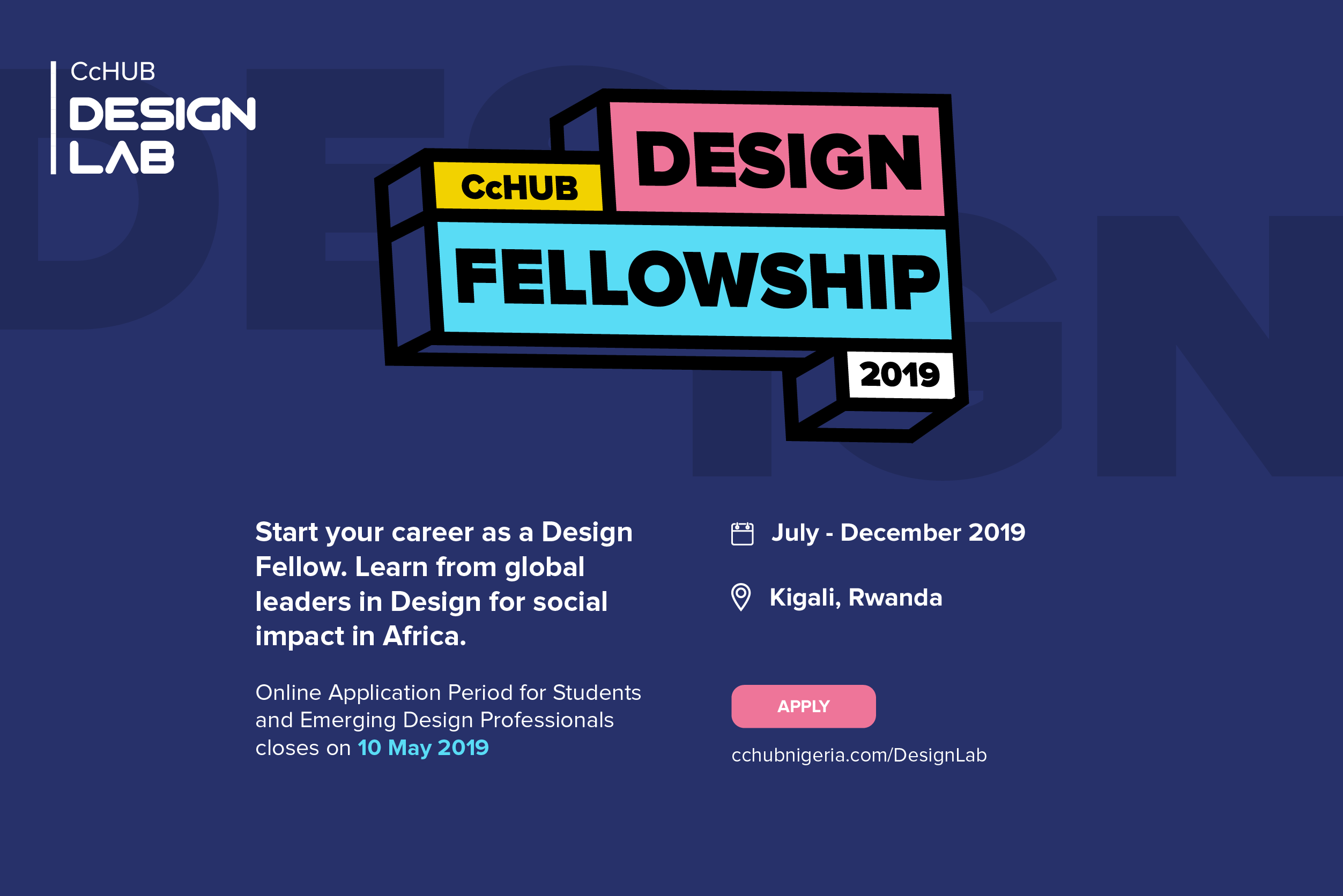 Co-Creation Hub (CcHUB) Design Fellowship 2019