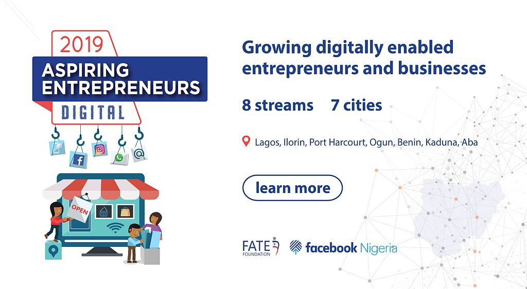 Facebook Nigeria/FATE Foundation Digital Programme 2019 for Aspiring Entrepreneurs