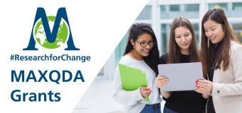 MAXQDA #ResearchforChange Grant 2019 (Up to $1,400 USD)