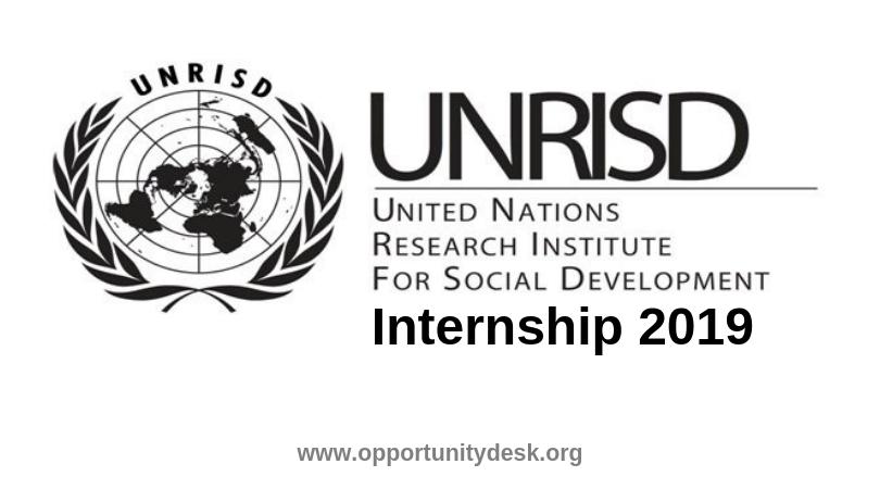 United Nations Research Institute for Social Development (UNRISD) Internship Programme 2019