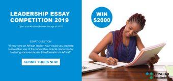 UONGOZI Institute Leadership Essay Competition 2019 (USD $2,000 prize)