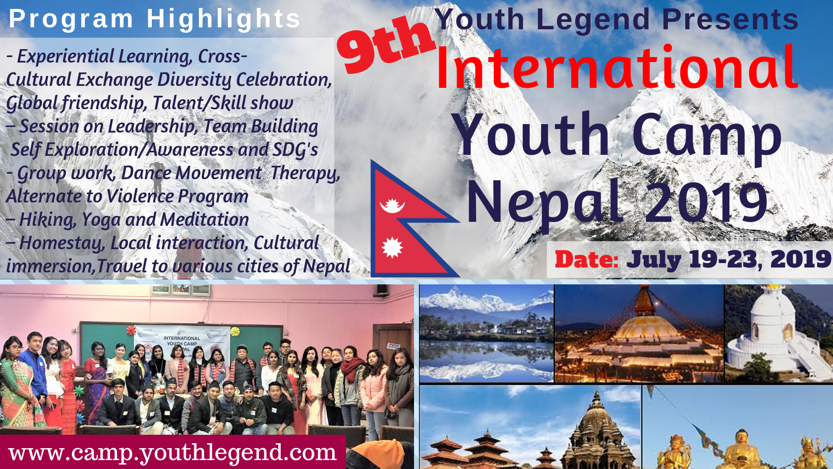 Register to attend the 9th International Youth Camp Nepal (IYCN)