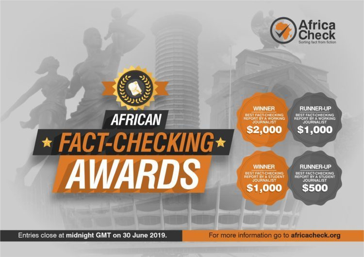 African Fact-checking Awards 2019 for Journalists (Up to $2,000 prize)