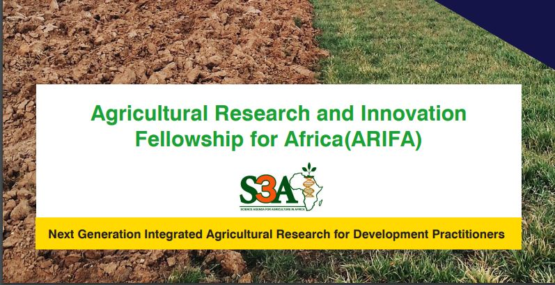 Agricultural Research and Innovation Fellowship for Africa (ARIFA) 2019
