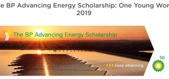 BP Advancing Energy Scholarship to attend the One Young World 2019 Summit in London, UK (Fully-funded)