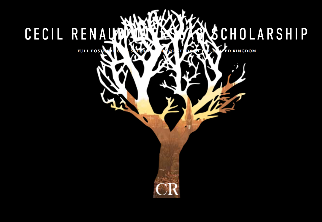 Cecil Renaud Overseas Scholarships 2020 for South Africans to Study in the UK