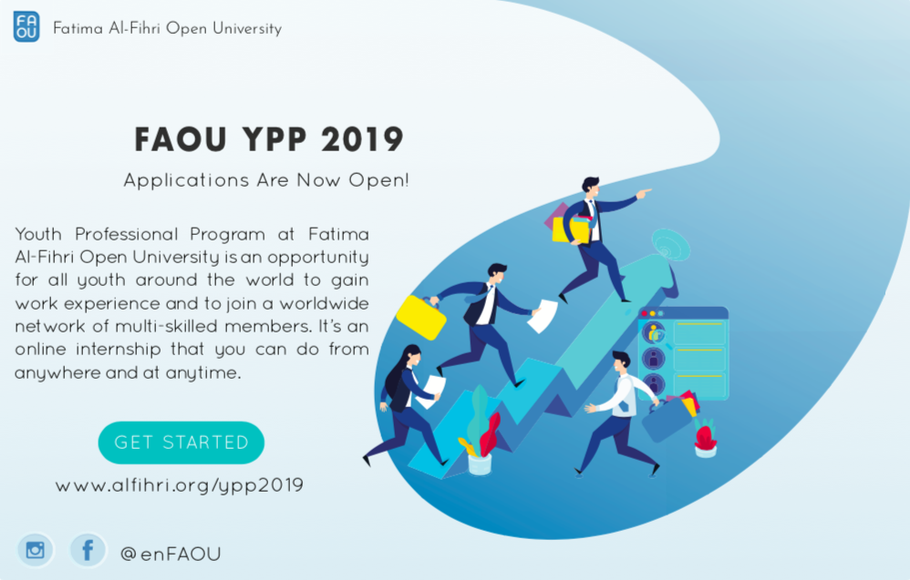 Fatima Al-Fihri Open University (FAOU) Youth Professional Program 2019