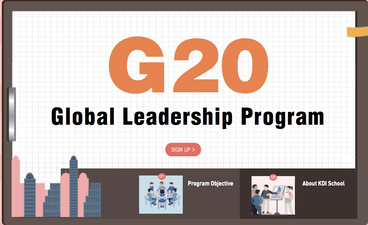 Apply for KDI School's G20 Global Leadership Program 2019 (Fully-funded to Korea)