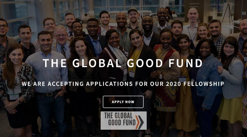 Global Good Fund Fellowship 2020 for Young Social Innovators