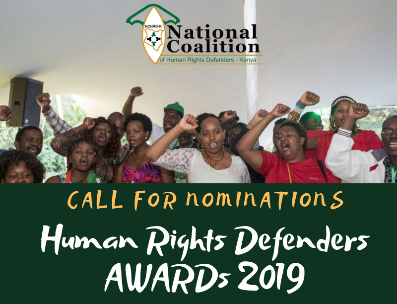 Human Rights Defenders of the Year Award 2019