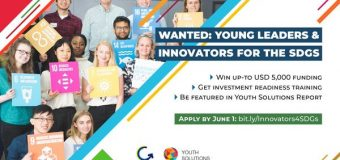JCI/SDSN Programme 2019 for Young Leaders and Innovators for the SDGs (Up to USD $5,000 in funding)