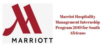 Marriot Hospitality Management Internship Program 2019 for South Africans