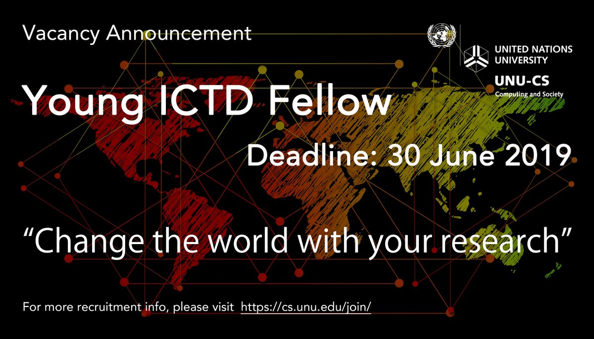 United Nations University on Computing and Society (UNU-CS) Young ICTD Fellowship Programme 2019 (Fully-funded to Macau)