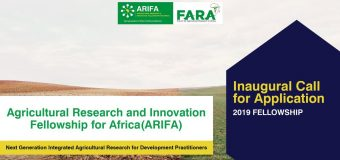 Agricultural Research and Innovation Fellowship for Africa 2019 (fully funded for Masters and Short Courses)