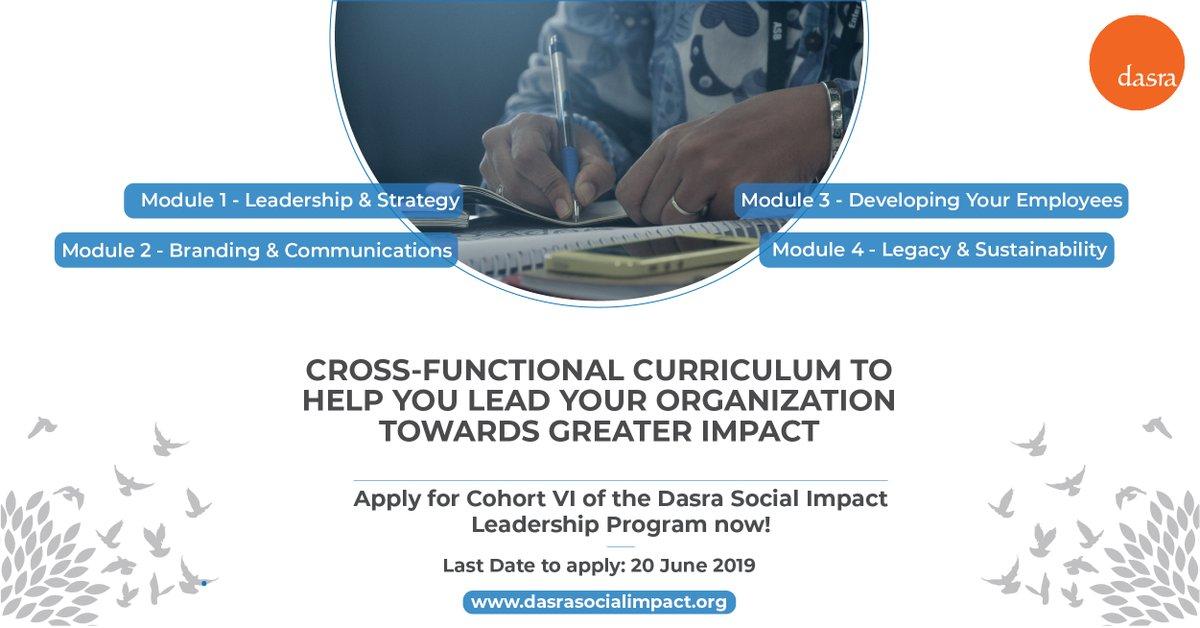 Dasra Social Impact Leadership Program 2019/2020 for India
