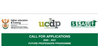Future Professors Programme 2020/2021 for Young South African Academics