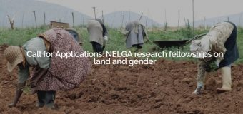 NELGA Research Fellowships on Land and Gender 2019 (Funding available)