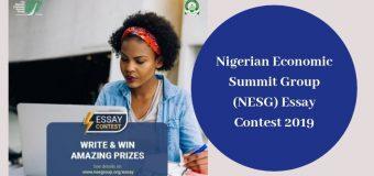 Nigerian Economic Summit Group (NESG) Essay Contest 2019 for Undergraduates in Nigeria