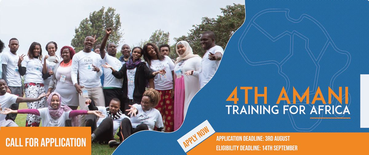 Peace Revolution 4th Amani Training for Africa 2019 (Funded to Thailand)