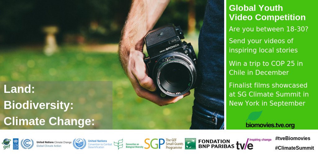 Tvebiomovies Global Youth Video Competition 2019 (Win round-trip to UN Climate Conference COP 25 in Chile)