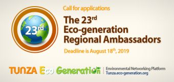 23rd Eco-generation Regional Ambassadors Program 2019