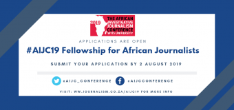 AIJC19 Fellowship for African Journalists (Funded to Johannesburg, SA)