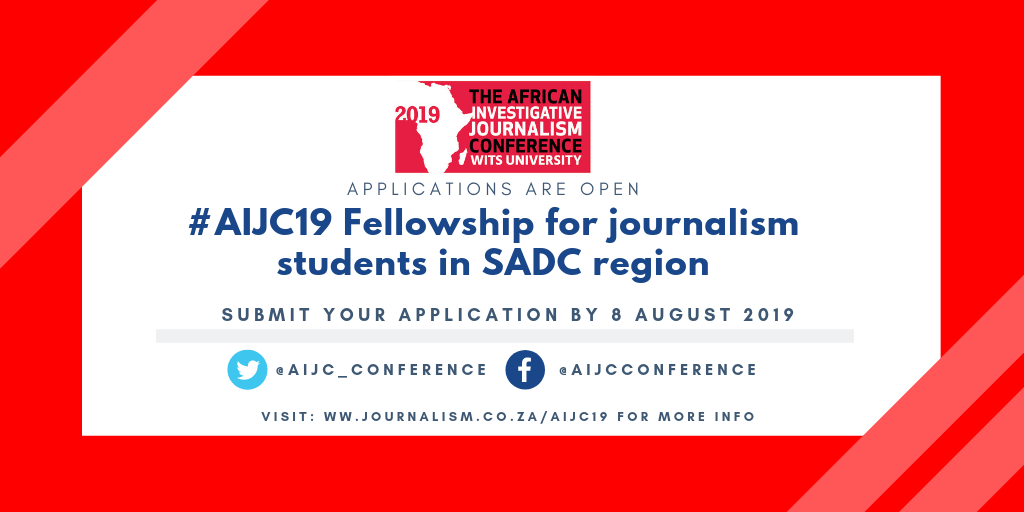 AIJC19 Fellowship for Journalism Students in SADC Region (Fully-funded to Johannesburg)