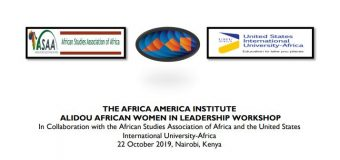 Africa-America Institute Alidou African Women in Leadership Workshop 2019