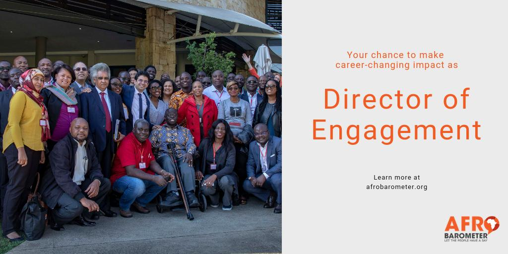 Afrobarometer is hiring a Director of Engagement – Accra, Ghana