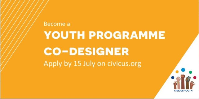 Call for Applications: CIVICUS Youth Co-Design Team 2019