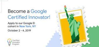 Google for Education Certified Innovator Program 2019