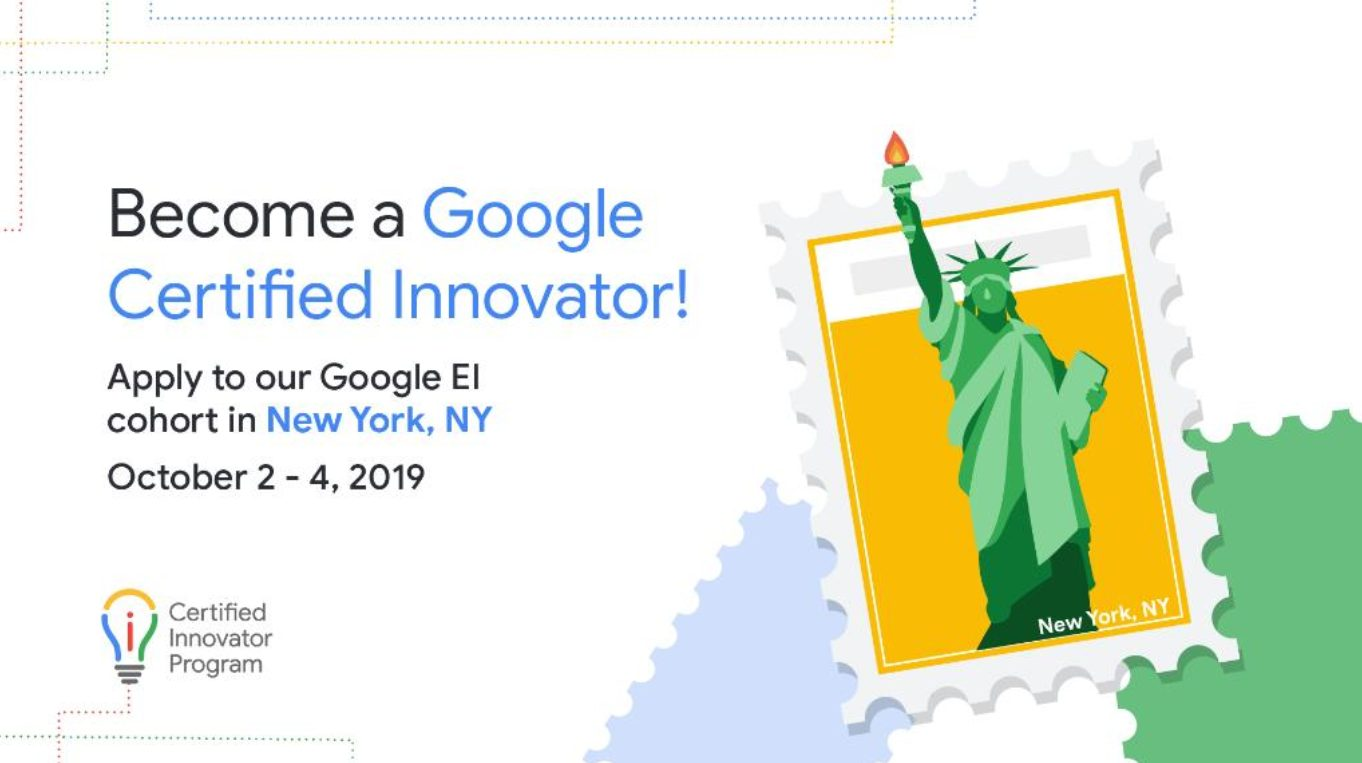 Google for Education Certified Innovator Program 2019