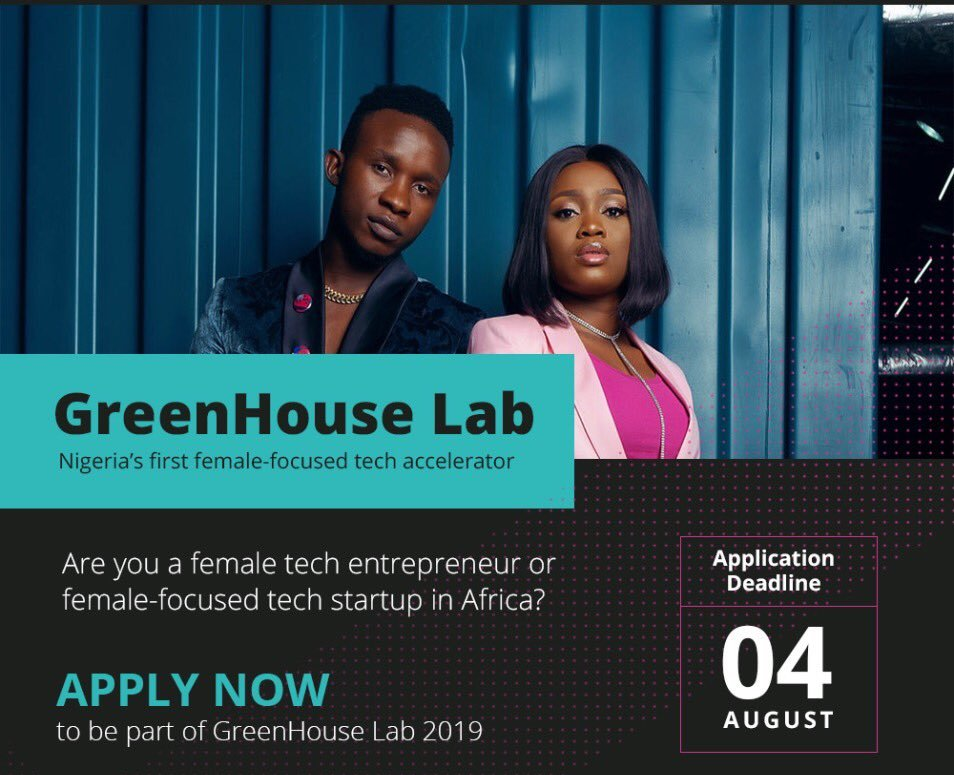GreenHouse Lab Female-Focused Tech Accelerator Program 2019 (Up to $100K investment)