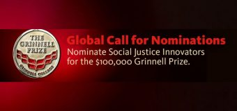 Grinnell College Innovator for Social Justice Prize 2020 (Award of $100,000 USD)