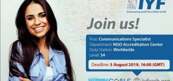 Join the International Youth Federation as a Communications Specialist