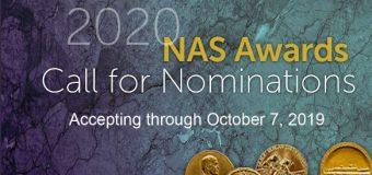 Call for Nominations: NAS Awards – James Craig Watson Medal 2020 ($25,000 prize)