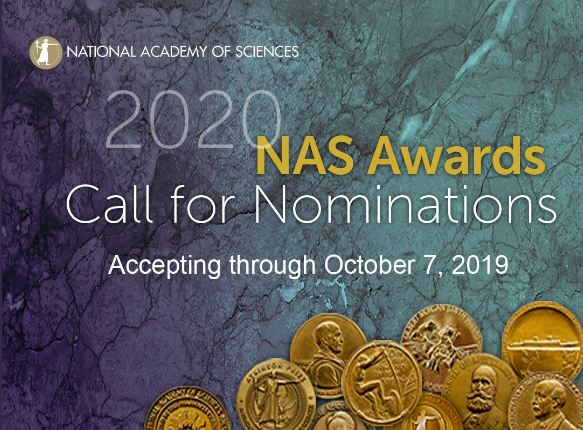 NAS Award for the Industrial Application of Science 2020 ($25,000 prize)