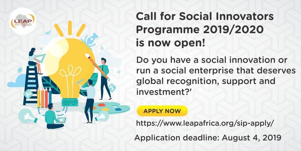 LEAP Africa Social Innovators Programme and Awards 2019/2020 for Social Entrepreneurs