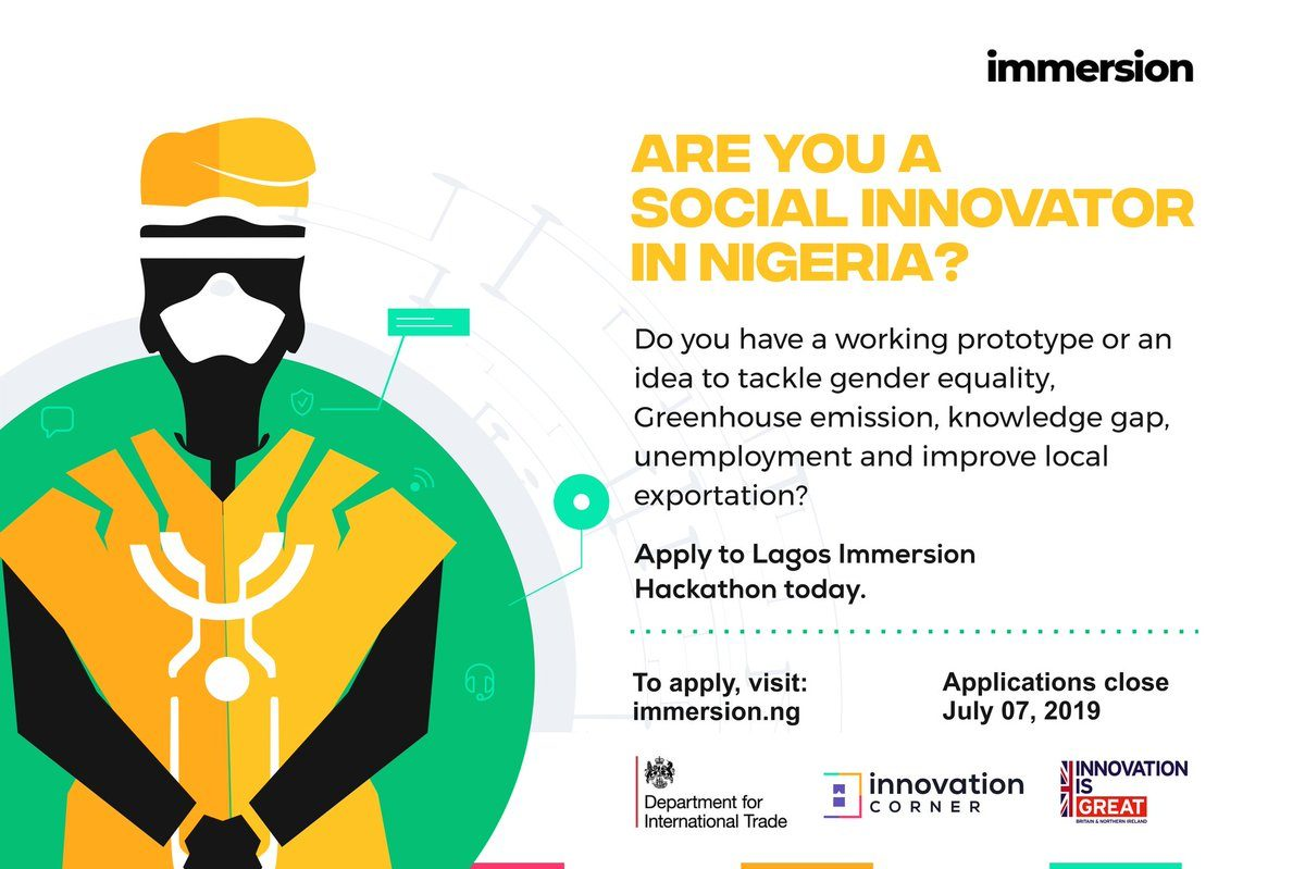 UK Government's Department for International Trade (DIT) Lagos Immersion Hackathon 2019