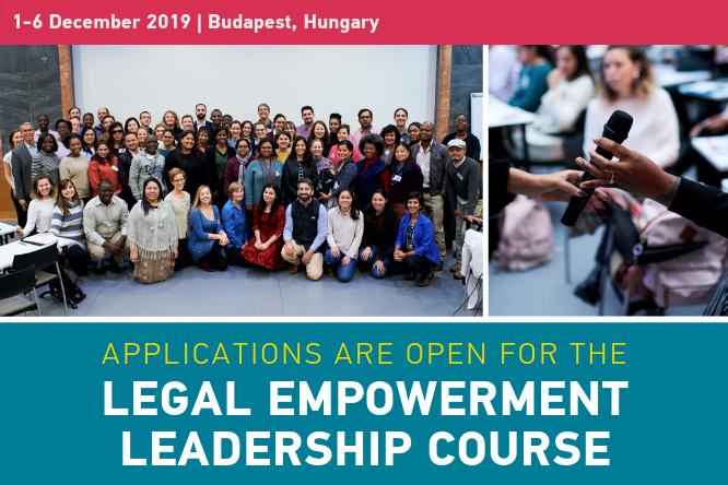 Apply for the 5th Legal Empowerment Leadership Course in Budapest (Scholarships Available)