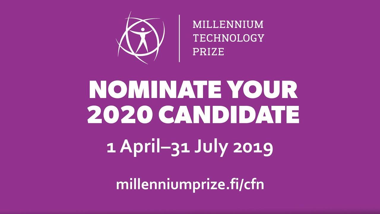 Technology Academy Finland (TAF) Millennium Technology Prize 2020 (€1,000,000 Euros)