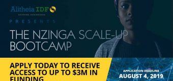 Apply to Alitheia IDF's Nzinga Scale-Up Bootcamp 2019 for African Businesses seekingup to $3M in funding