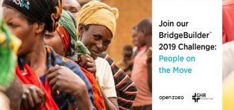 OpenIdeo/GHR Foundation Bridgebuilder Challenge 2019 ($1 million in seed funding)