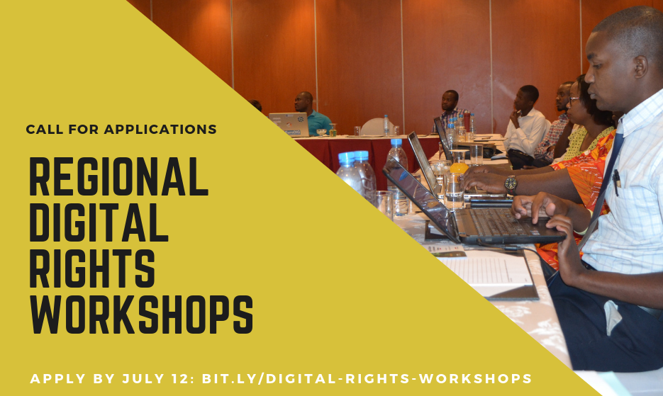 Call for Applications: Paradigm Initiative Regional Digital Rights Workshops 2019