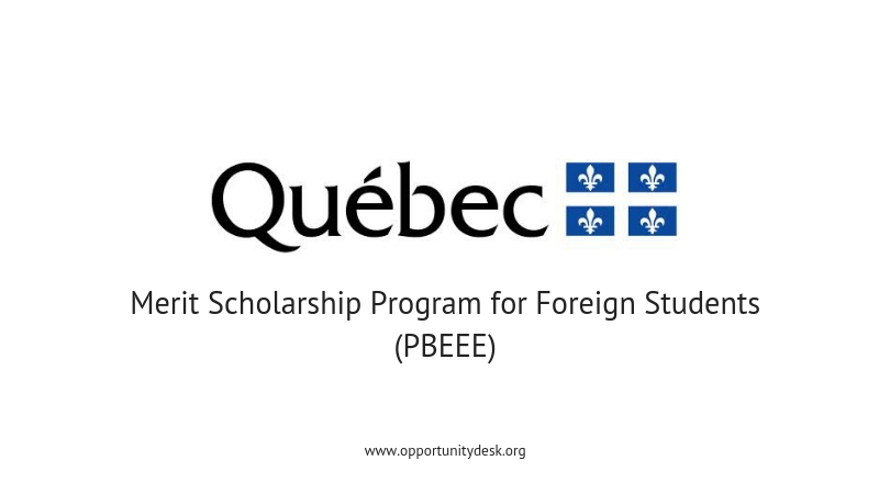 Québec Merit Scholarship Program for Foreign Students to Study in Canada 2020-2021