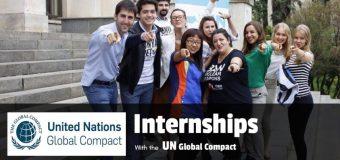 UN Global Compact Internship Programme – Fall 2019 in New York, USA