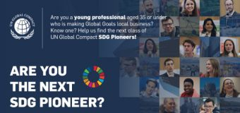 Apply to become a United Nations Global Compact Sustainable Development Goals (SDGs) Pioneer 2019