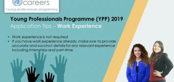United Nations Young Professionals Programme 2019