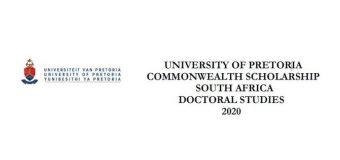 University of Pretoria Doctoral Commonwealth Scholarship 2020